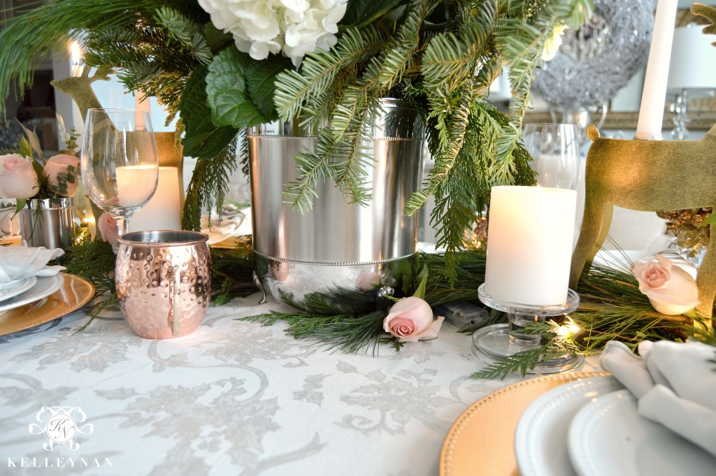 Trash Can Table Centerpiece
