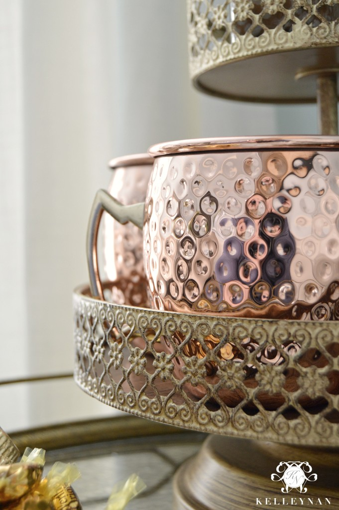 Copper Mugs for Hot Chocolate Bar