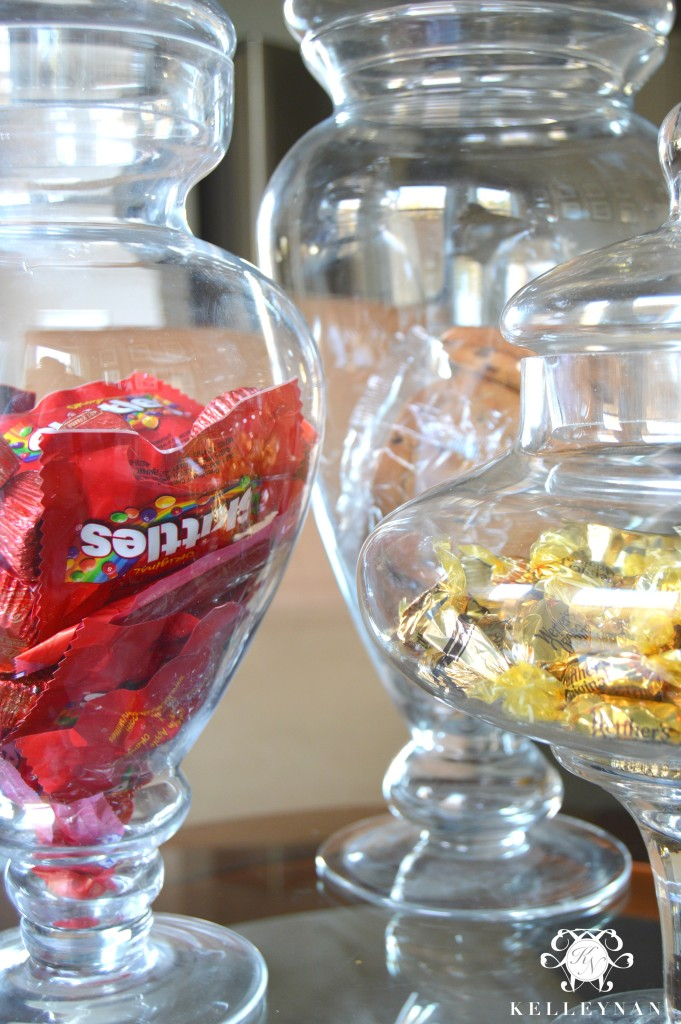 Apothecary Jars with Candy