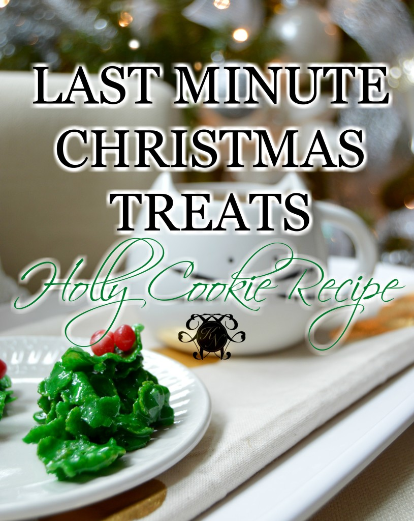 Holly Cookie Blog Announcement