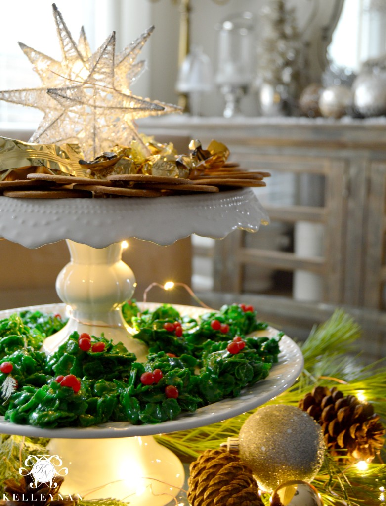 Holly Cookie Display 1