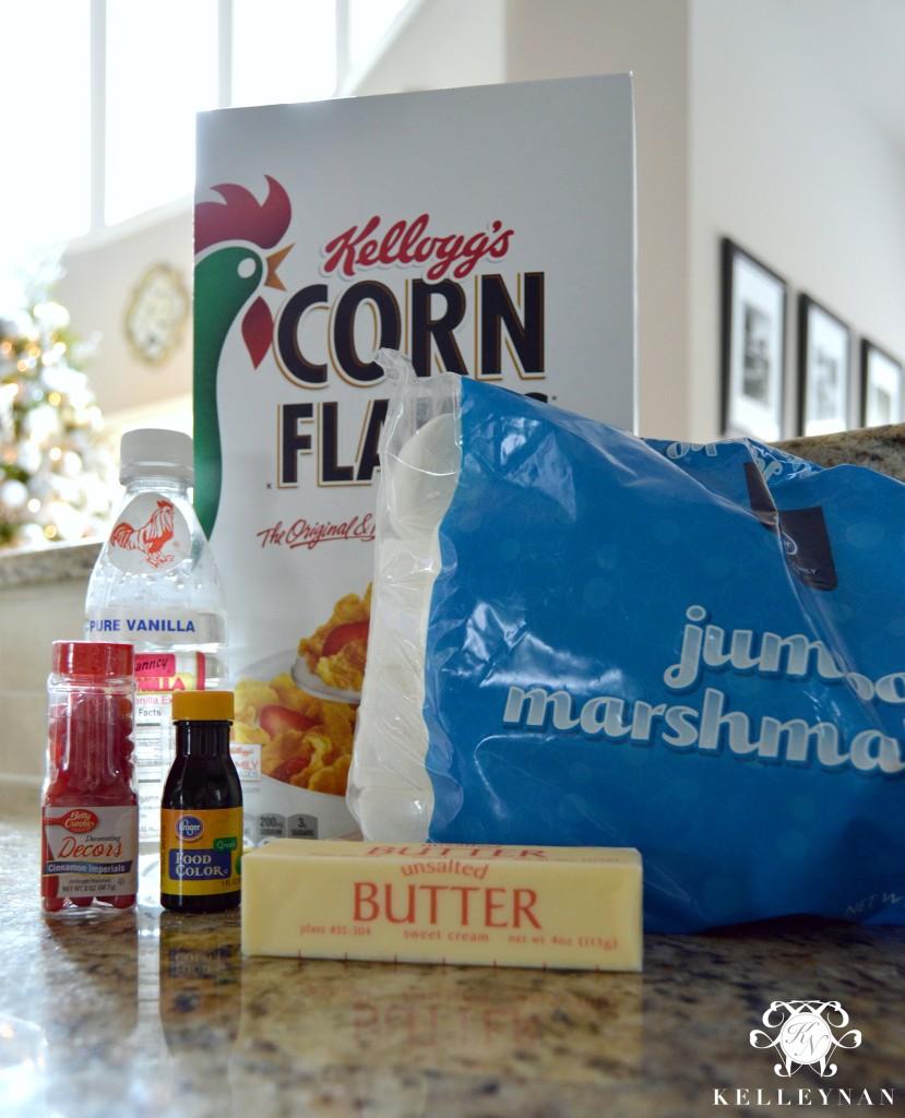 Holly Cookie Ingredients