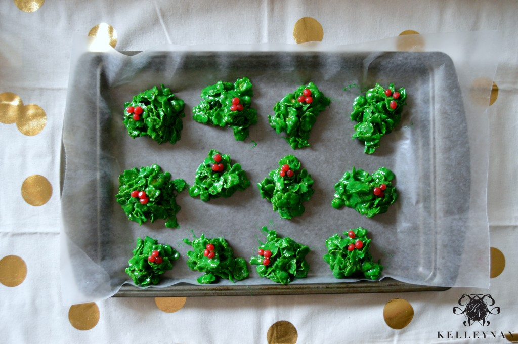 Holly Cookie Recipe 2