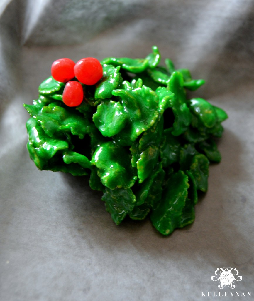 Holly Cookie Recipe