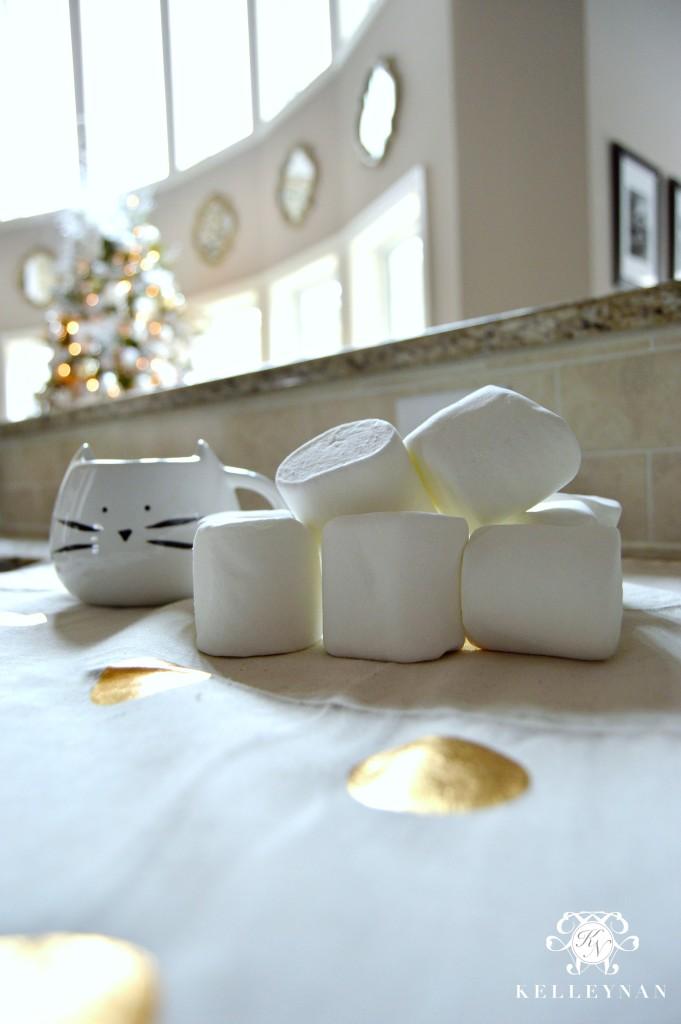 Marshmallows and Kitty Mug