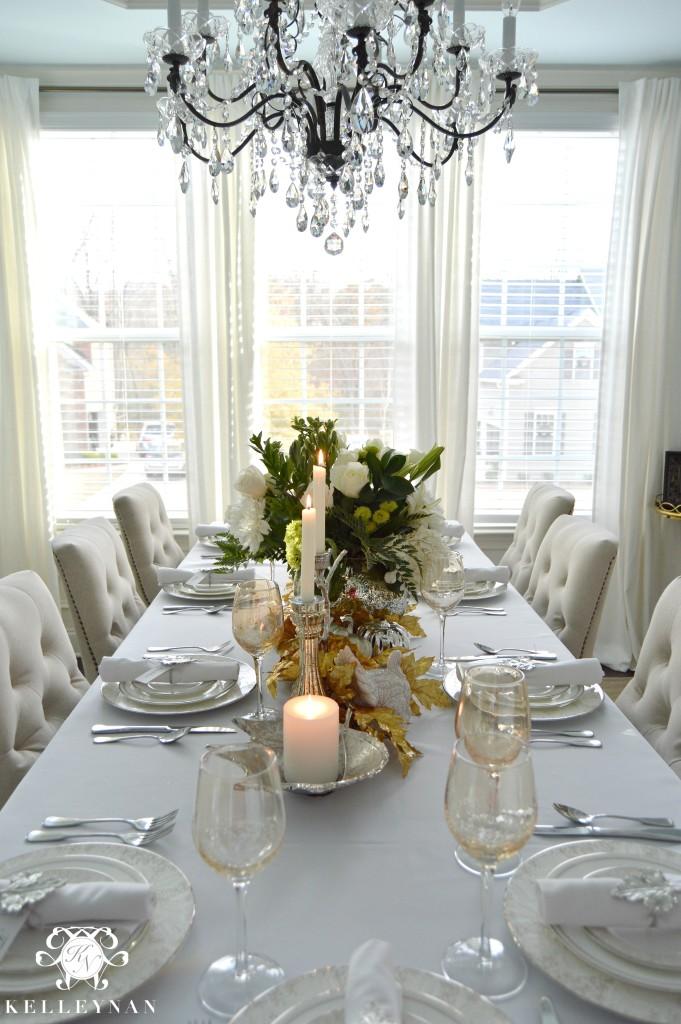 White Thanksgiving Table