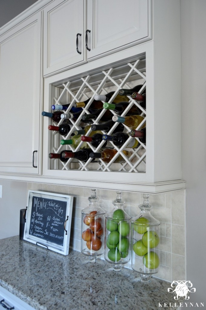 Wine Lattice above Stationery Desk
