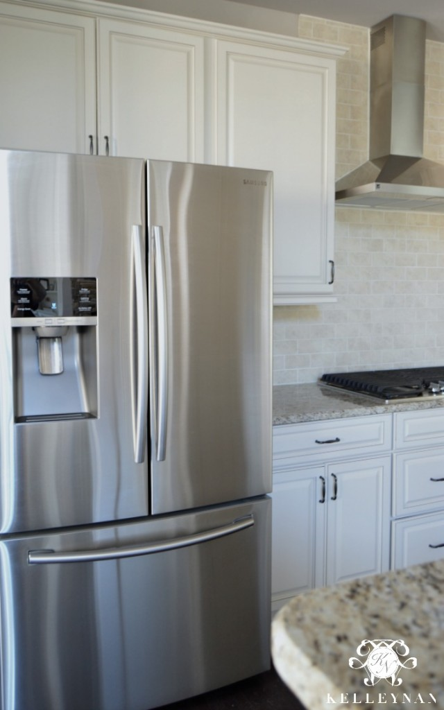 Samsung Stainless Steel Refrigerator in Neutral Kitchen