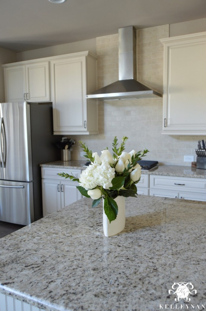 Neutral Kitchen White Cabinets Stainless Steel Appliances