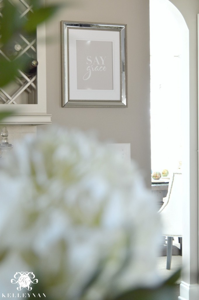 Say Grace Typography Print in Kitchen