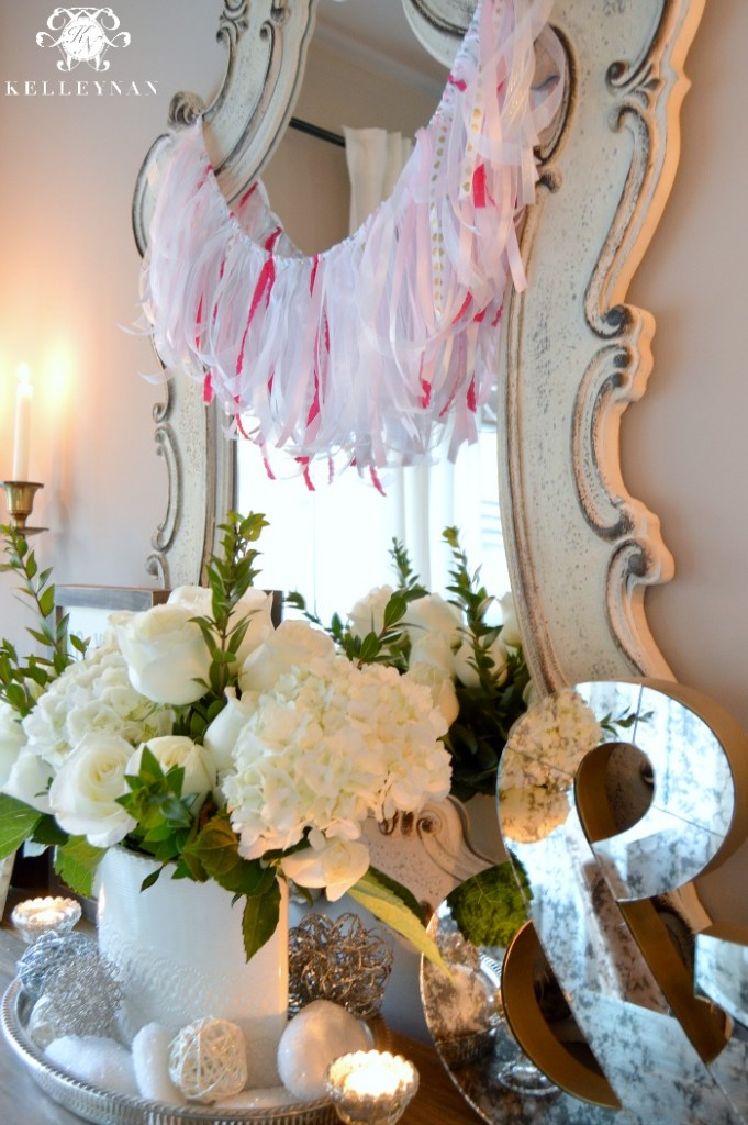 Valentine's Day Ribbon Garland Decor DIY