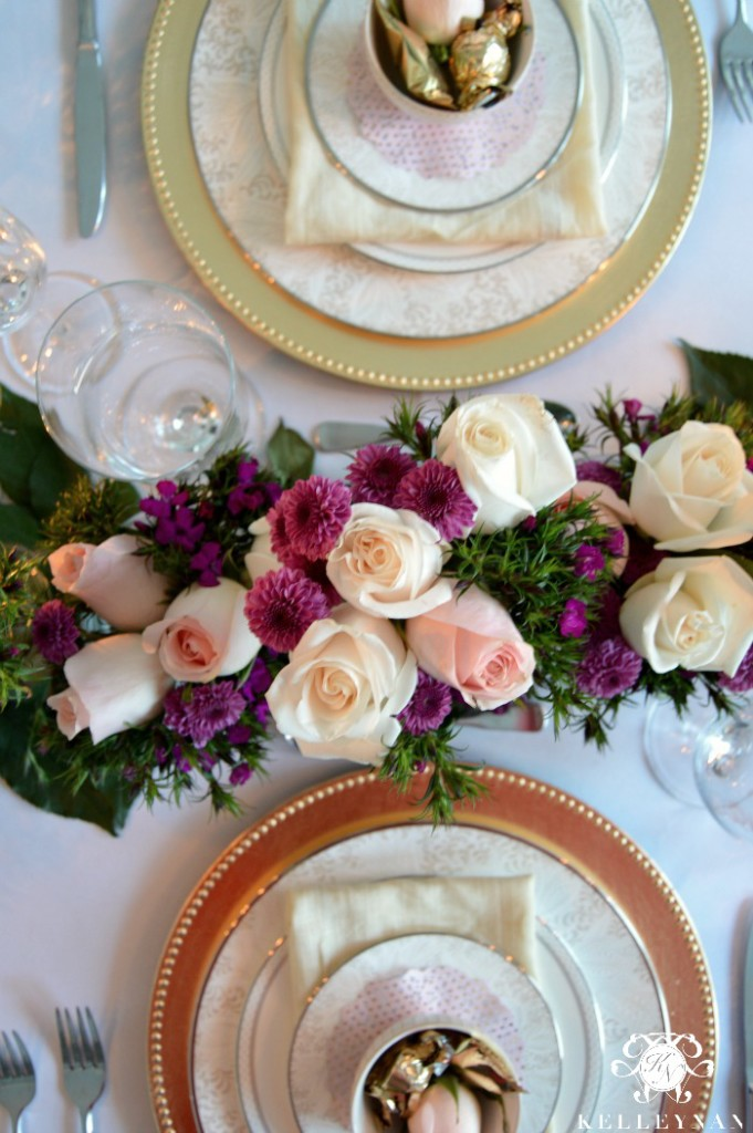 Valentine's Day Table Overhead