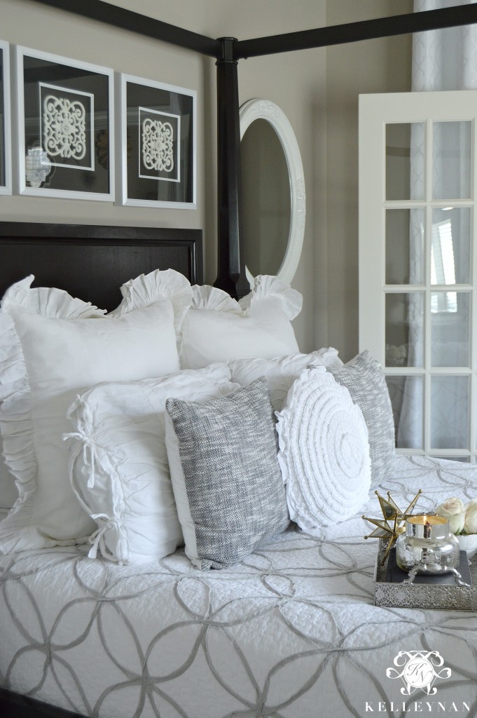 Neutral Bedding in Guest Room