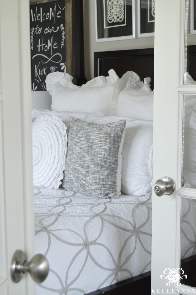 Guest Bedroom behind French Doors