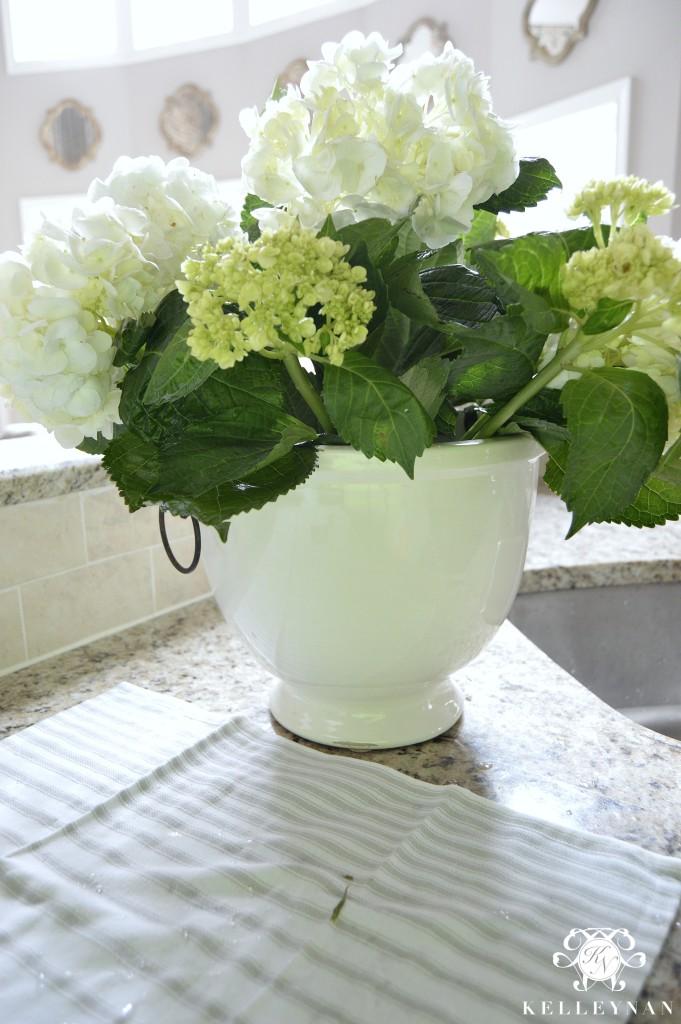 Hydrangeas in Ice Bucket
