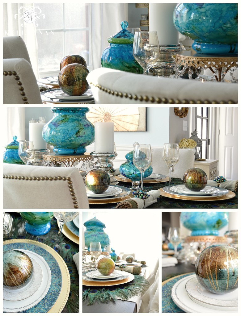 Peacock Table Collage 2