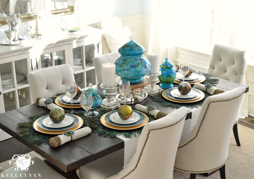 Peacock Table Corner 1