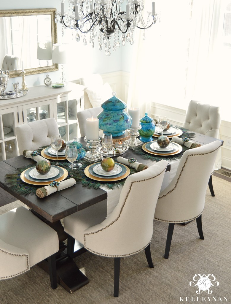 Peacock Table Corner 3