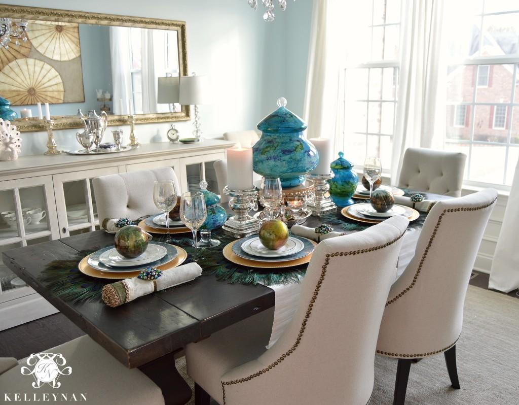 Peacock Table Corner 5