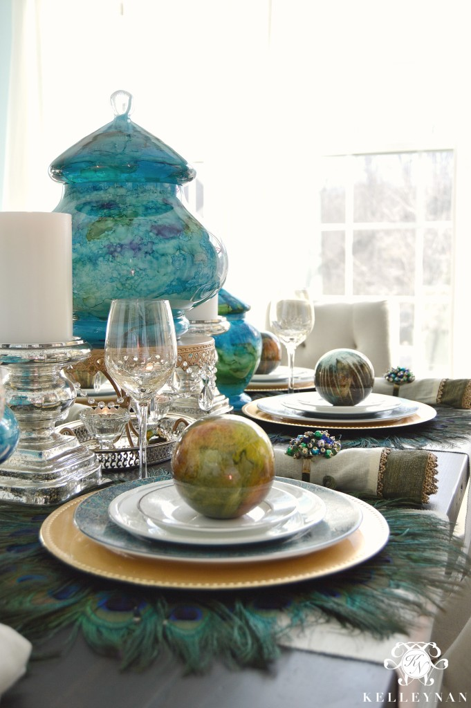 Peacock Table Details 1