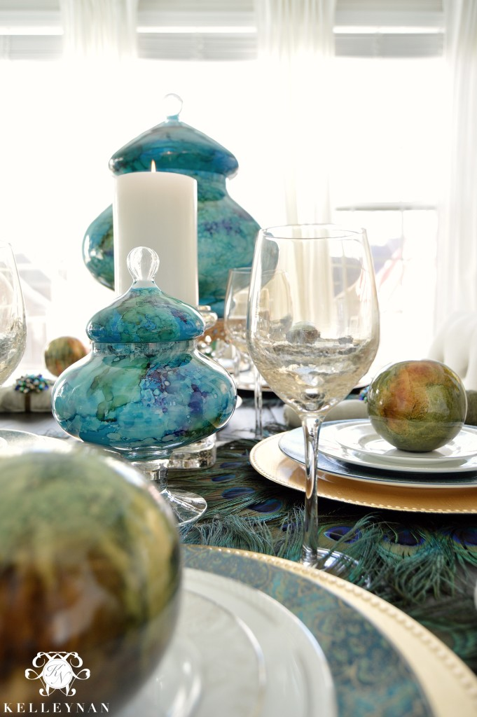 Peacock Table Details 5
