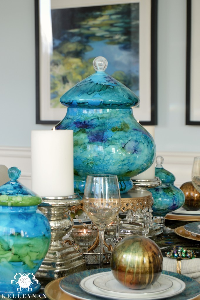 Peacock Table Details 9
