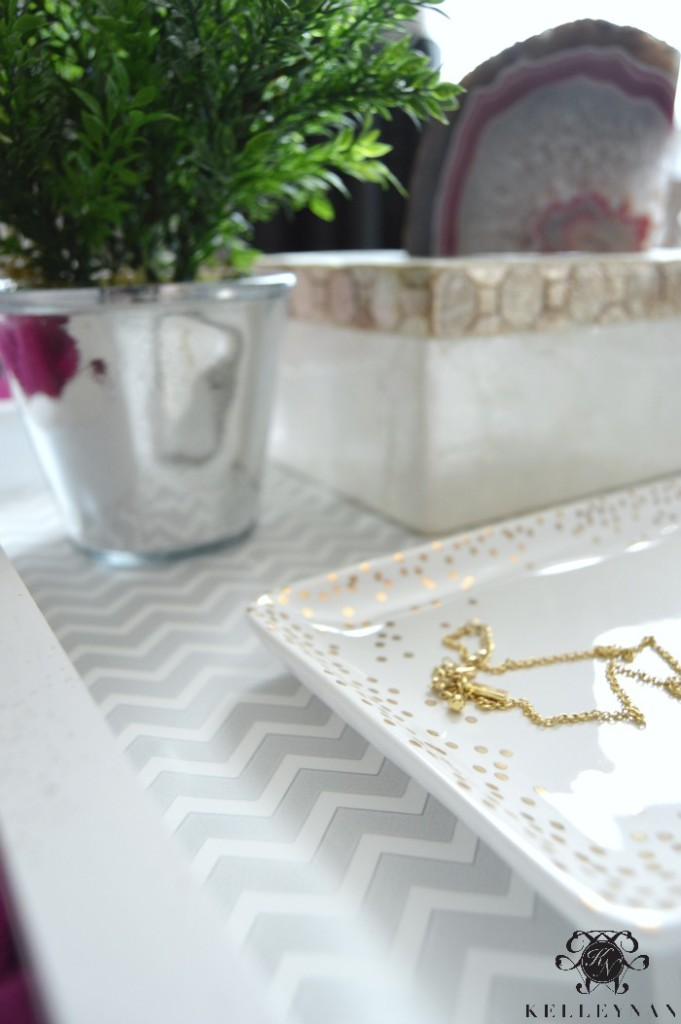 Wrapping Paper on White tray DIY