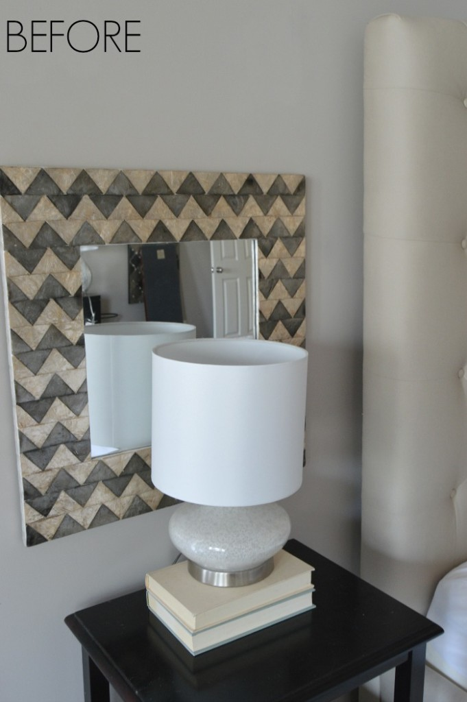 Capiz Shell Chevron Mirror