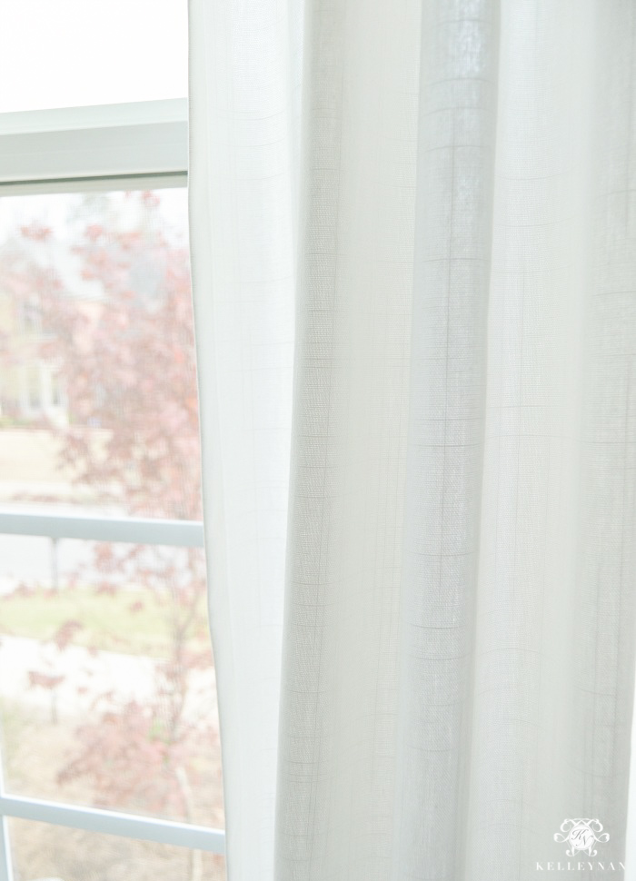 Favorite Budget Friendly White Curtains: Ikea Ritva Drapes