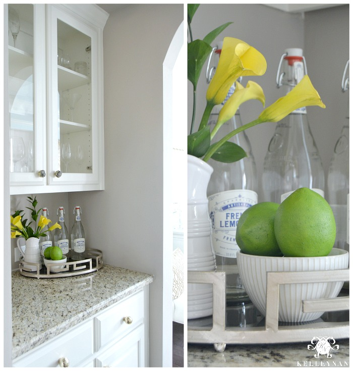 Butler's Pantry with Lemonade and Limes