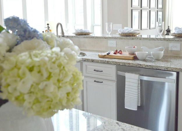 One Room Spring Tour: Spring Styled Kitchen and Baby Blue Salad Recipe