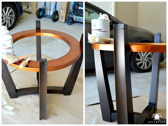 Contemporary Table Before Painting with Annie Sloan