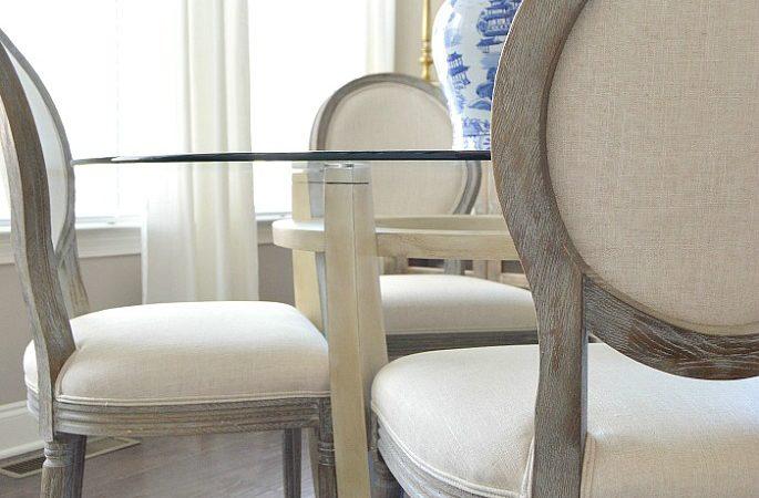 Breakfast Room Table Makeover | Easy Chalk Paint DIY