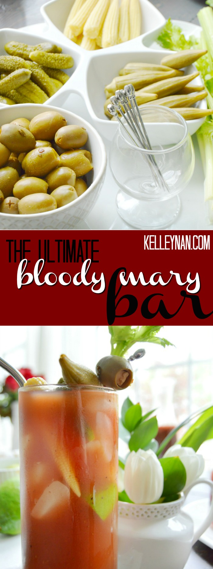 How to Build a Bloody Mary Bar- with the best bloody mary recipe