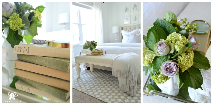 White Guest Bedroom Collage