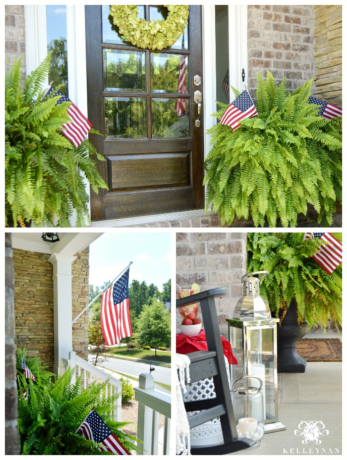 American Flag Fourth of July Porch