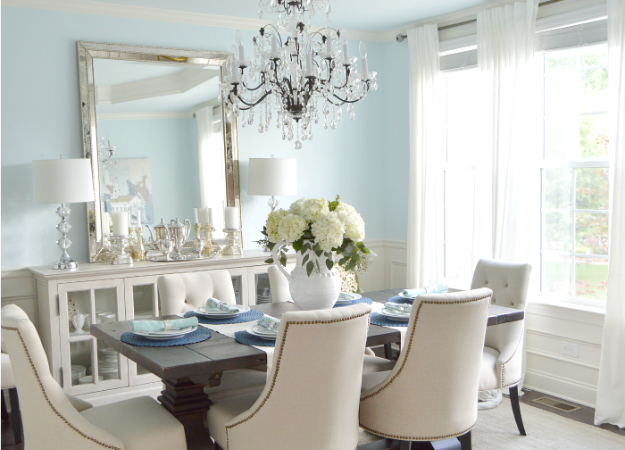 Dining Room Update   Vertical Vs. Horizontal Buffet Mirror