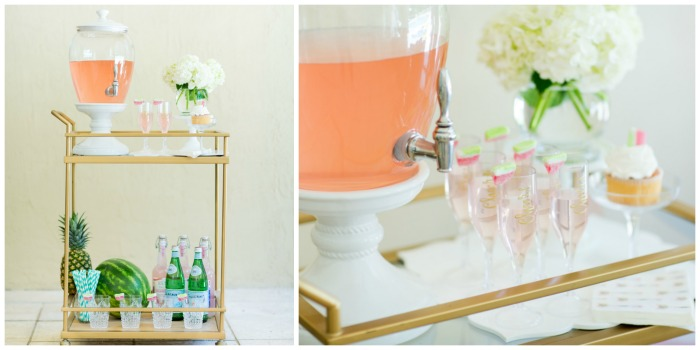 Summer Decor and outdoor bar cart