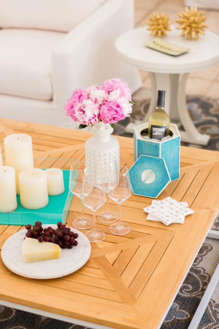 Summer decor and outdoor entertaining