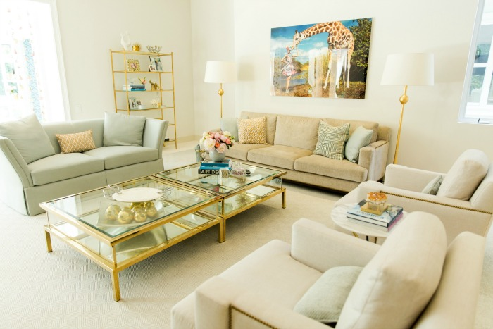 Summer Decorating Tips with brass and neutrals
