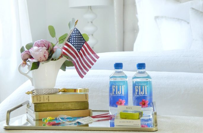 Fourth of July Guest Bedroom Trays and a Sale Alert