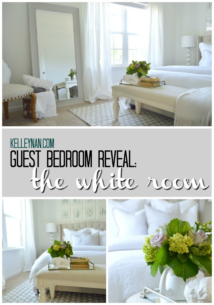 Pottery Barn White Guest Bedroom Reveal