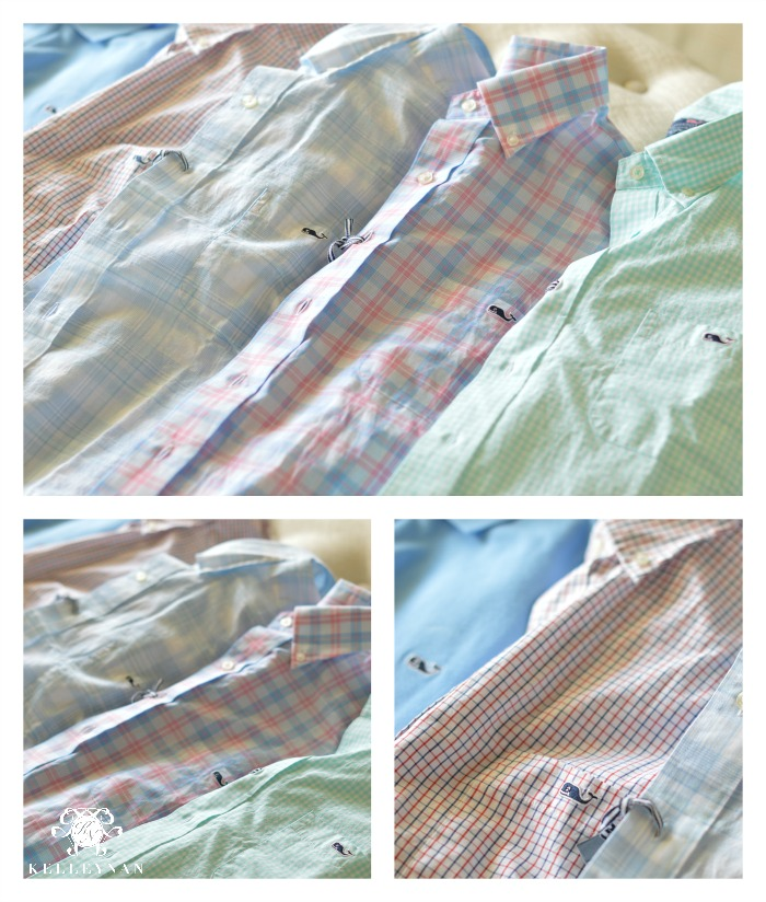 Vineyard Vined Mens Button Down Shirts