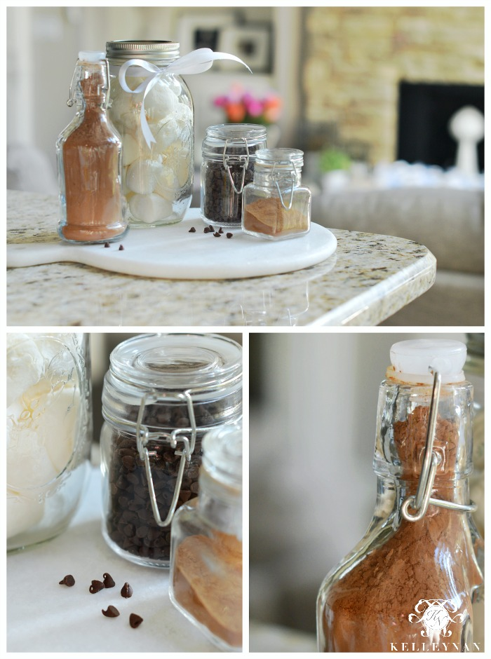 Hot Chocolate Gift Basket Jars