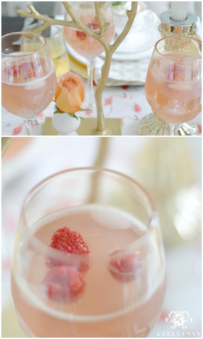 Pink Lemonade with Rasperries