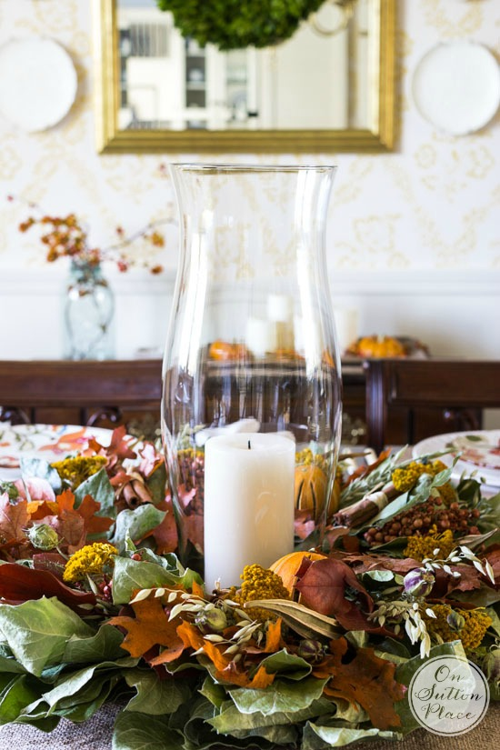 fall thanksgiving wreath centerpiece idea