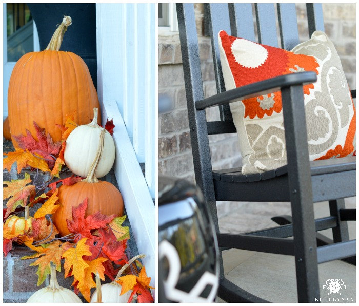 fall-front-porch-with-pumpkins-and-leaves-and-black-rocking-chairs