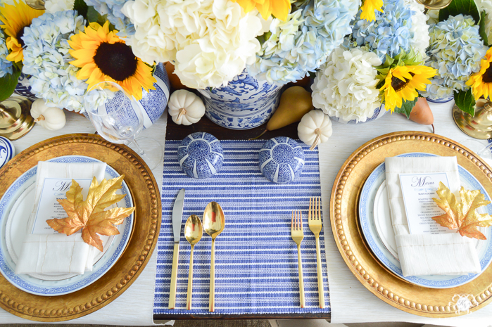 blue-and-white-thanksgiving-table-idea-with-sunflowers-and-hydrangeas-15-of-21