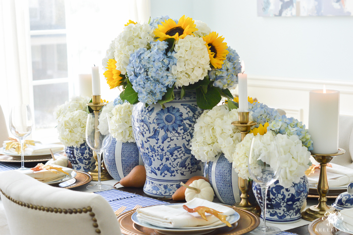 blue-and-white-thanksgiving-table-idea-with-sunflowers-and-hydrangeas-9-of-21
