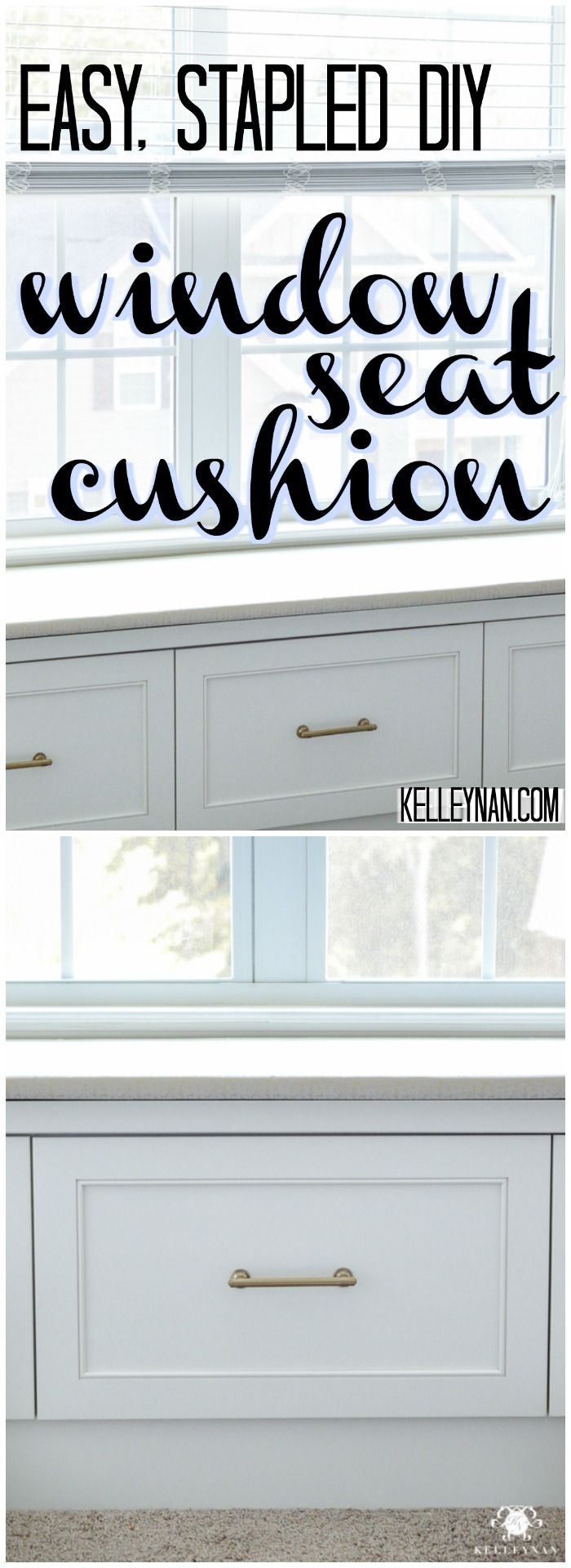 easy stapled diy window seat cushion kelley nan how to make a simple window seat bench cover with only a stapler